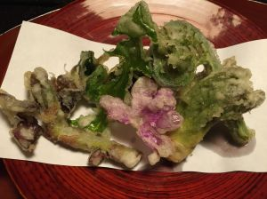 Tempura mountain veggies.