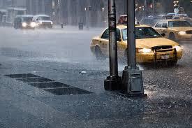 taxi in rain
