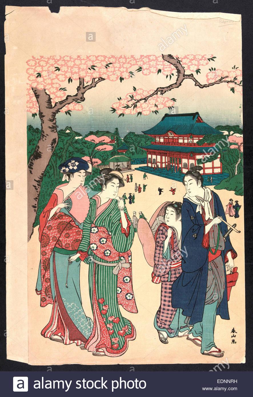 ueno-no-hanami-cherry-blossom-viewing-at-ueno-katsukawa-shunzan-active-EDNNRH