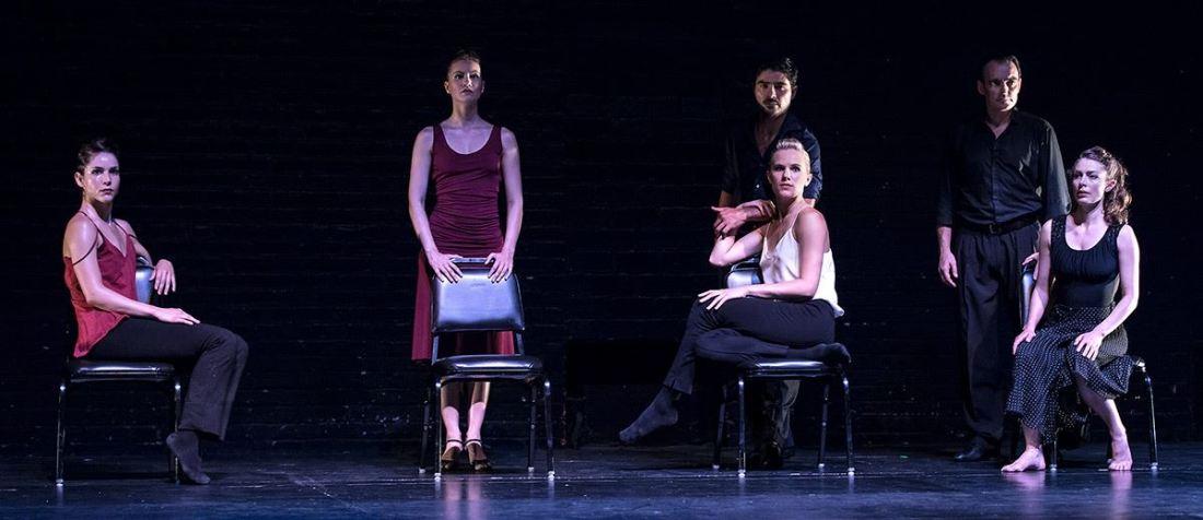 from left: Nicole, Tayhara, Thryn, Daniel, Gabrielle, Escobar